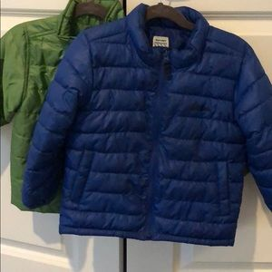Old Navy puffer jacket, royal blue, 4T